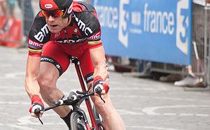 2012 Tour de France, Prologue to Stage 10 - Image: Cadel Evans Tour de France 2012, Warm up