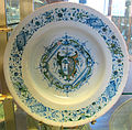 Cafaggiolo, piatto con stemma puccini-busini, 1570 ca..JPG