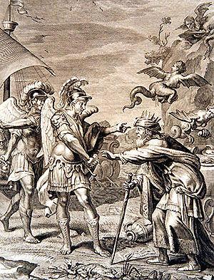 Boreads - Calaïs et Zétès délivrent Phinée des Harpies by Bernard Picart
