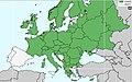 Calopteryx splendens - rasprostranjenje u Evropi.jpg