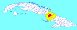 Municipalities of Cuba - Image: Camagüey (Cuban municipal map)