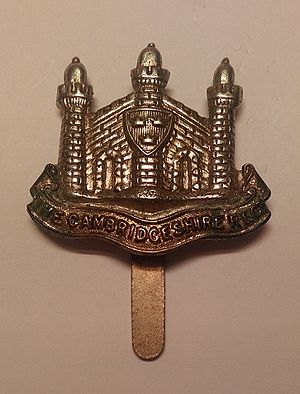Cambridgeshire Regiment - Badge of the Cambridgeshire Regiment