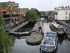 Camden Lock - The twin locks