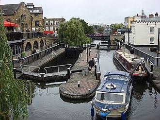 Camden Lock - The twin locks