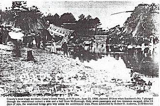 Camp Creek train wreck - Camp Creek train wreck of 1900