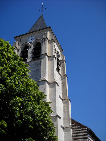 The church of Camphin-en-Carembault, Nord, France.