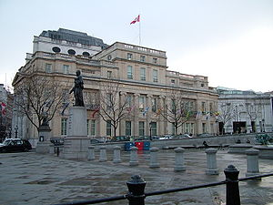 Canada House, Trafalgar Square, London.
