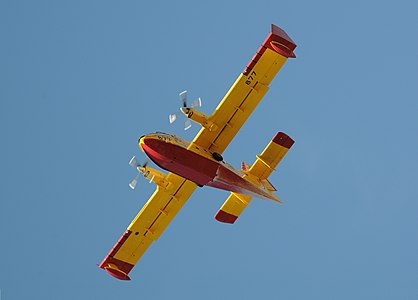 A Bombardier 415 firefighting airplane in Zadar, Croatia
