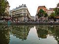 Canal Saint-Martin - Quai de Valmy, Paris 21 July 2013.jpg