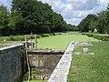 Canal d'Orléans , écluse du Point de Partage and beginning of Bief de Partage. Vieilles-Maisons-sur-Joudry, département du Loiret, France. - panoramio.jpg