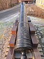 Cannon 12 pound manufactured at Moss Ironworks in Norway, view from behind.jpg