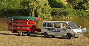 Canoe livery - Canoe livery in France, Dordogne.