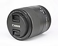Canon EF-M 32mm F1.4 STM lens-front oblique capped PNr°0801.jpg