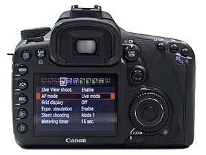 Canon EOS 7D - Rear view.