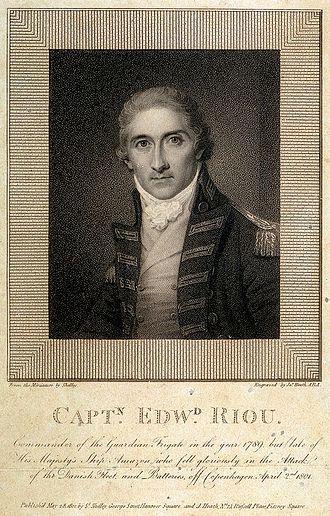 HMS Amazon (1799) - Image: Captain Edward Riou engraving