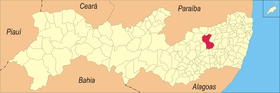 Localização de Caruaru
