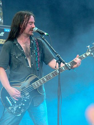 Carcass (band) - Jeff Walker at Gods of Metal, Bologna, Italy (2008)