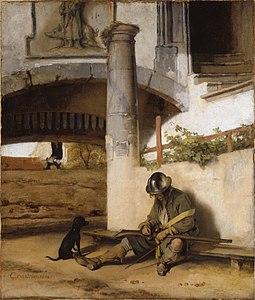 Carel Fabritius - De poort bewaker (1654)