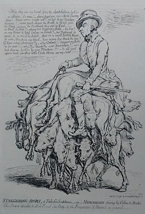 George Hanger, 4th Baron Coleraine - Caricature of Col.George Hanger by James Gillray, published 1796