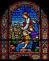 Carl Huneke's stained glass window - Agony in the Garden at St. Charles Borromeo Church in San Francisco, CA.jpg