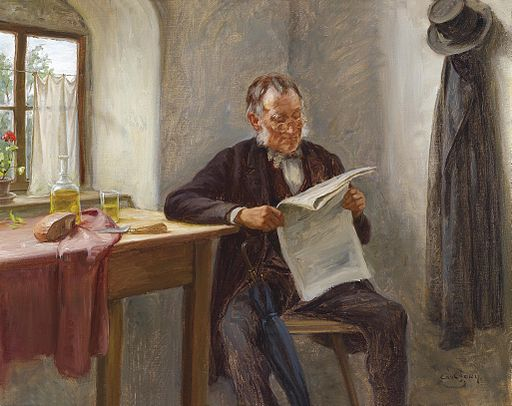 Carl Zewy Der Zeitungsleser