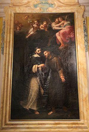 Carlo Antonio Rambaldi - Saints Dominic and Francis, Palazzo Buonaccorsi, Macerata