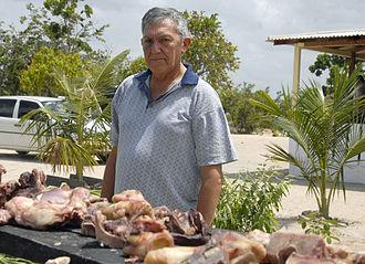 Carne-de-sol - Farmer preparing carne-de-sol