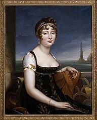 Caroline Murat before the Bay of Naples