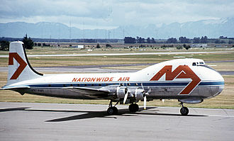 Christchurch International Airport - Former Nationwide Air Aviation Traders Carvair at Christchurch in 1977