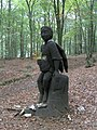 Carved statue in Coed Gwarallt forest - geograph.org.uk - 579429.jpg