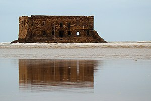 Tarfaya - The fortress Casa del Mar, built by the British in the 1880s