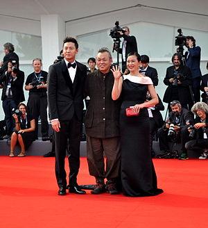 Kim Ki-duk - Lee Jung-jin, Kim Ki-duk and Jo Min-su in the 2012 Venice Film Festival