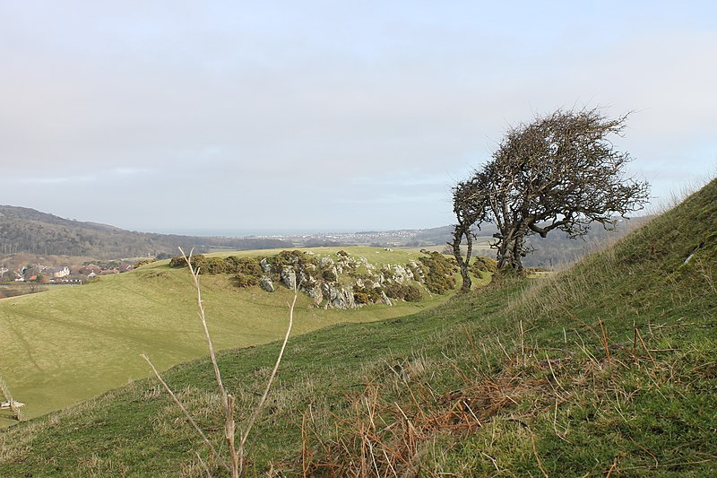 File:Castell Degannwy Deganwy Castle Sir Ddinbych Wales 25.JPG