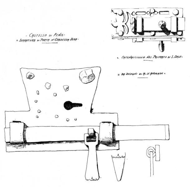 File:Castello di Fenis, da disegno d' andrade, fig 150, disegno Nigra.tiff