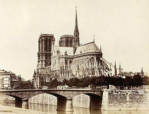 Édouard Baldus - Image: Cathédrale Notre Dame de Paris, east facade by Édouard Baldus c 1860s