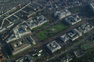 Cathays Park civic centre area in Cardiff, Wales