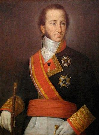 Cayetano Valdés y Flores - Portrait of Cayetano Valdés y Flores painted by José Roldán y Martínez, Sevilla, 1847