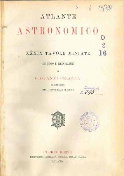 File:Celoria - Atlante Astronomico, 1890.djvu