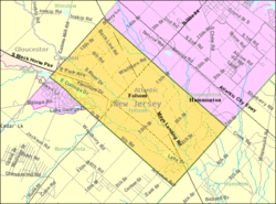 Census Bureau map of Folsom, New Jersey