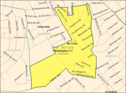 Census Bureau map of Hi-Nella, New Jersey