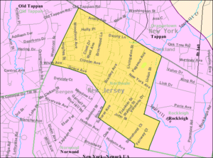 Northvale, New Jersey - Image: Census Bureau map of Northvale, New Jersey