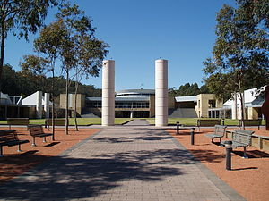 Ourimbah, New South Wales - Entrance of University of Newcastle, Central Coast Campus.
