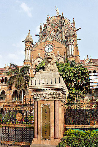 Central Railway zone - Central Railway Headquarters at CST.