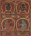 Central Tibet, Ngor Monastery, c. mid 15th century - Vajradhara, Nairatmya, and Mahasiddhas-Virupa and Kanha - 1960.206 - Cleveland Museum of Art.tif