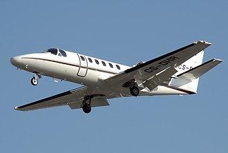 Cessna Citation II - Image: Cessna 550b citation bravo cs dhr arp