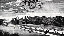 Château de Fresnes, view of the garden front, engraving by Perelle – Braham and Smith 1973 plate 300.jpg