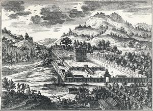 Château de la Montagne - 17th-century engraving of the Château de la Montagne