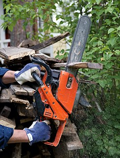 Chainsaw Portable handheld powered cutting tool