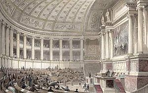 Chamber of Deputies (France) - The Chamber of Deputies of France at the Palais Bourbon in 1841.