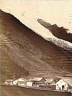 Bossons Glacier - Bossons Glacier in 1890